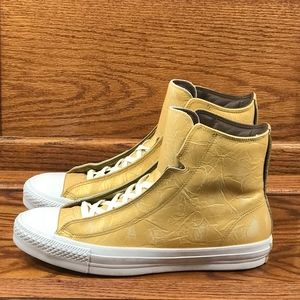 Converse CTAS Alpha Hi Aged Gold White Shoes